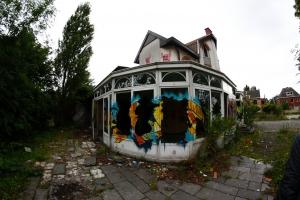 Verlaten restaurant