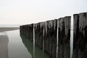 Row at the beach