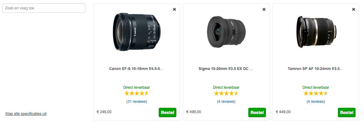 groothoek lens