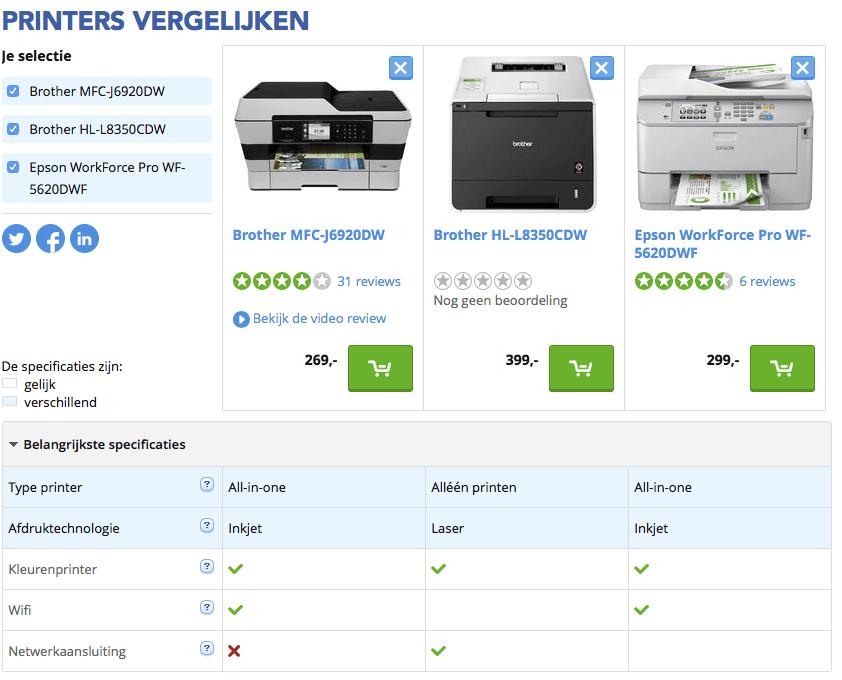 printer advies
