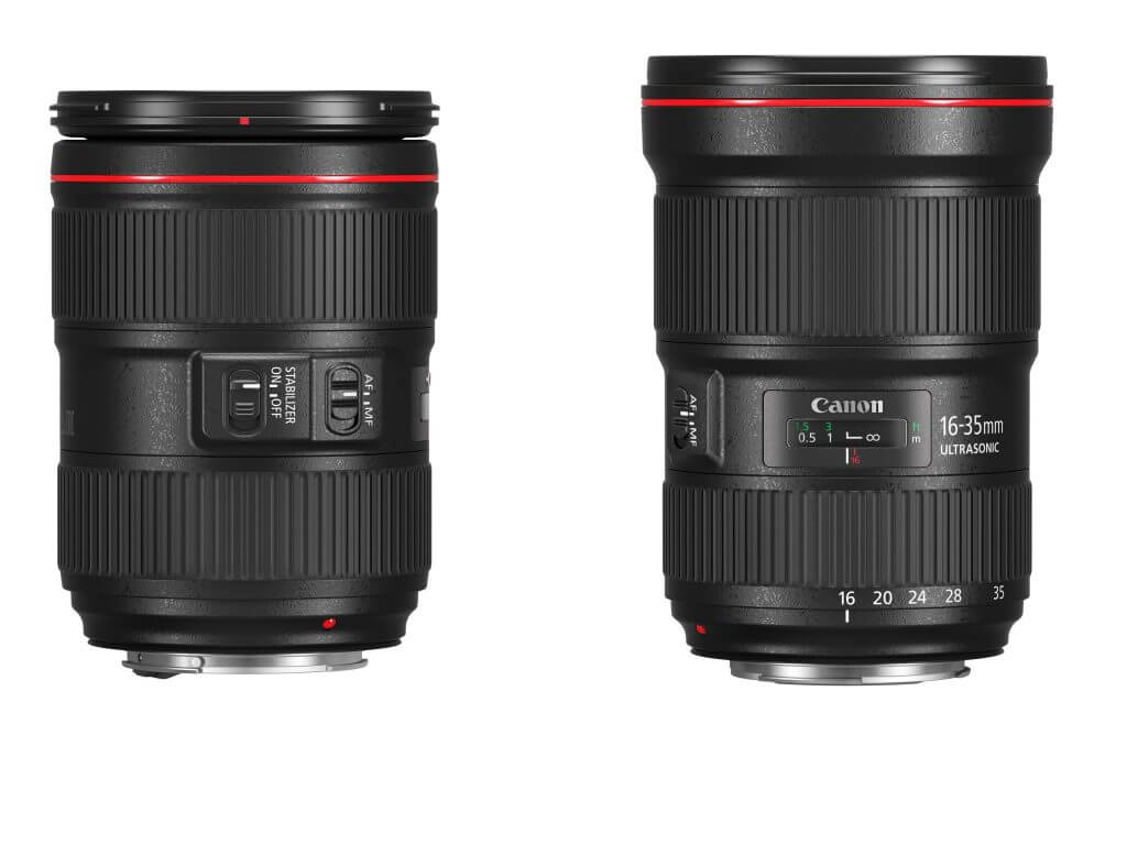 EF 24-105mm f4L IS II USM and EF 16-35mm f2.8 L III
