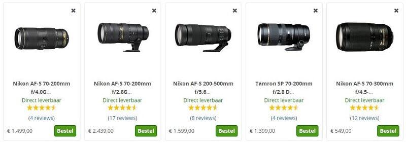 Nikon telelens