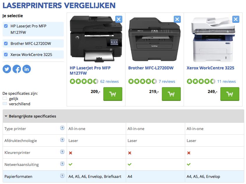 zakelijke laserprinters